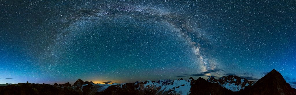 Milky Way arcing high above mountains in canada - Monika Deviat