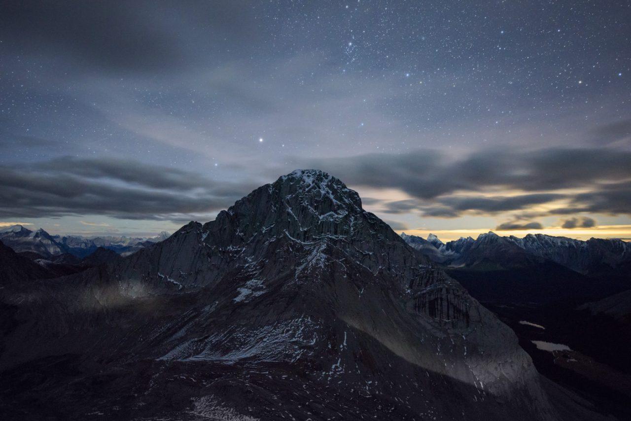 Moonlight on Birdwood Peak Alberta