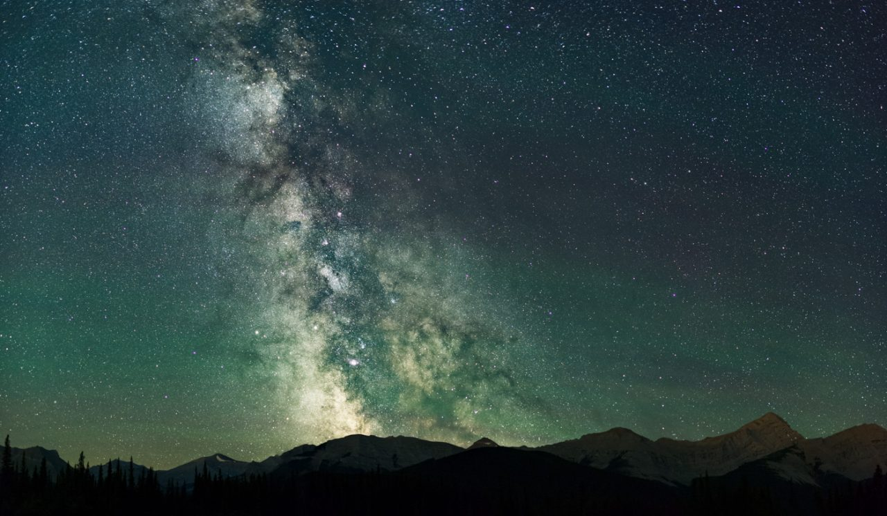 Milky Way over the Canadian Rockies