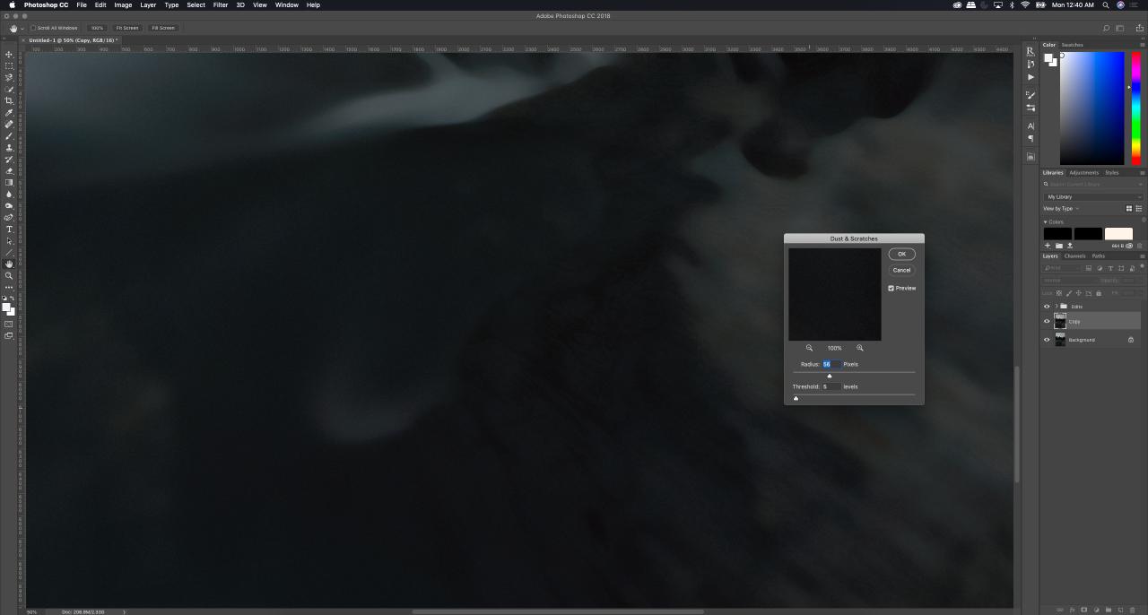Tutorial - Removing hot pixels in photoshop, noise parameters - Monika Deviat