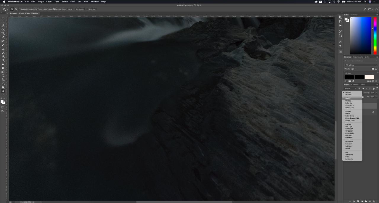 Tutorial - Removing hot pixels in photoshop, darken mode - Monika Deviat