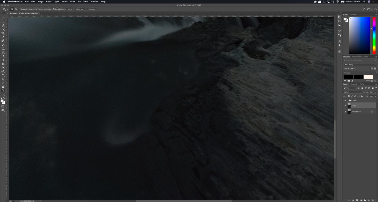 Tutorial - Removing hot pixels in photoshop, blending