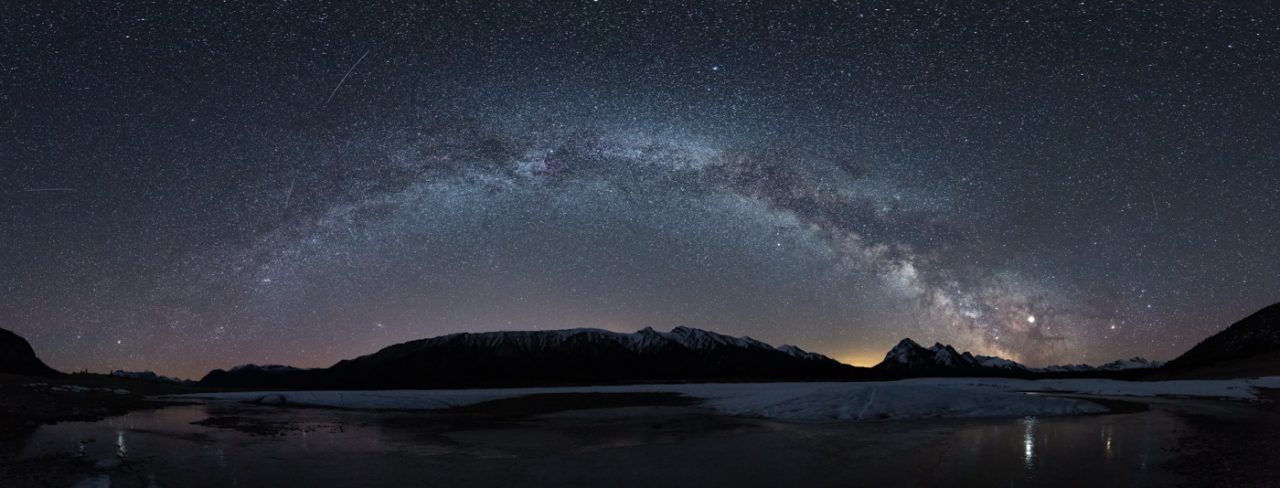 Milky Way panorama over Abraham Lake - Monika Deviat
