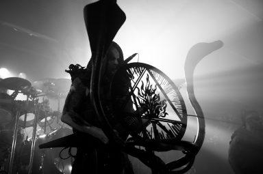 Behemoth Nergal and micstand, MacEwan Hall Ballroom, Calgary