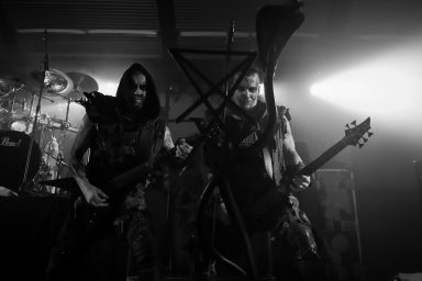 Behemoth, Nergal and Orion eye contact, Macewan Hall Ballroom, Calgary