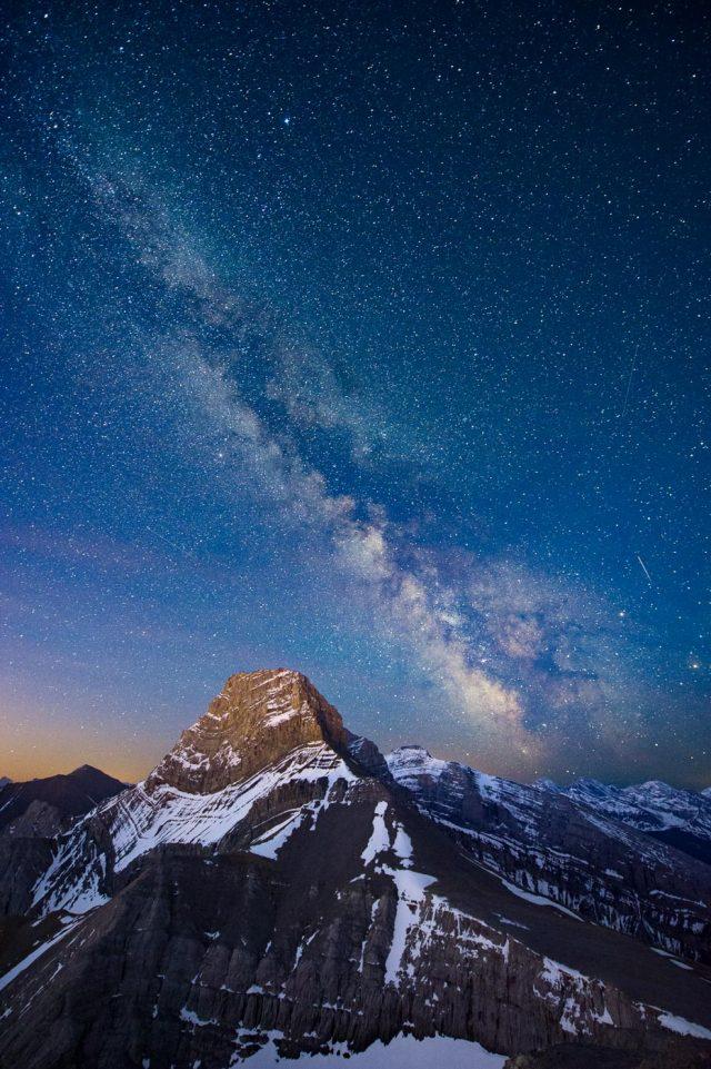 Milky Way and Mount Lougheed, Kananaskis
