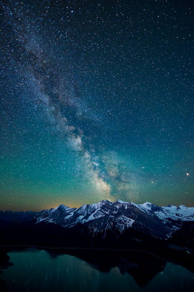 Milky Way over Upper Kananaskis Lake