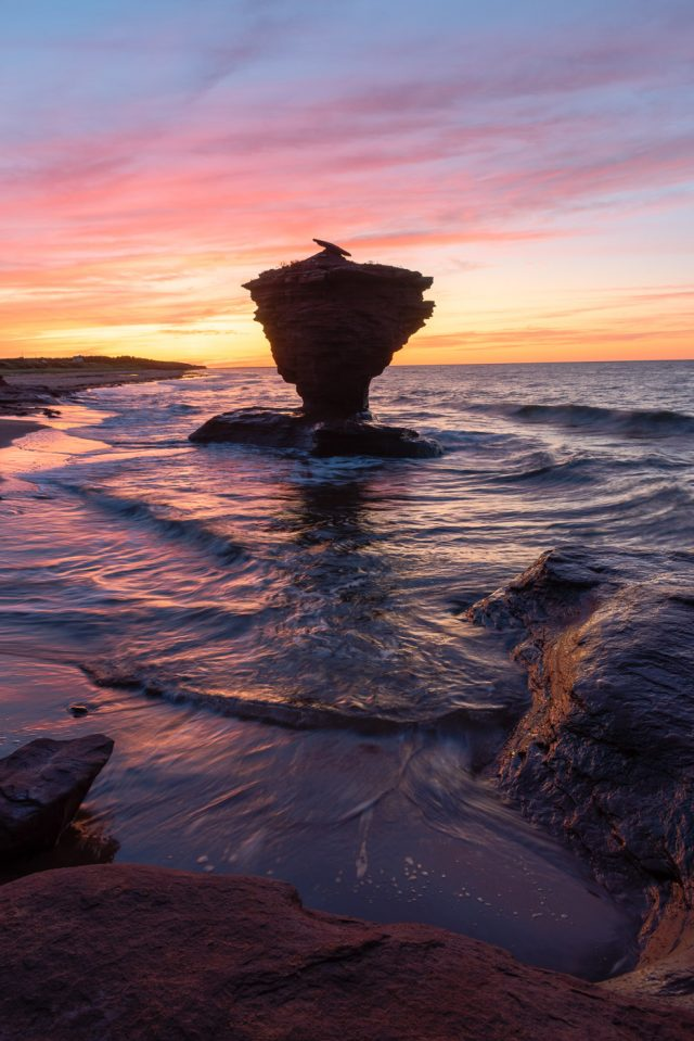 Teapot rock sunset, Prince Edward Island