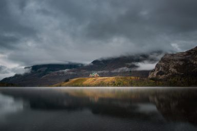 Moody clouds over the Prince of Wales in Waterton