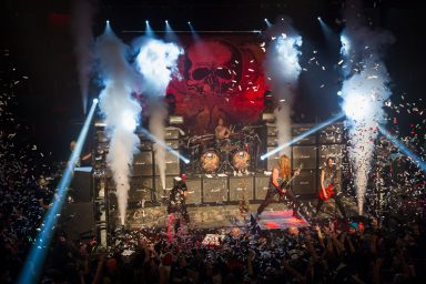 Black Label Society playing in Calgary, confetti coming down for New Years