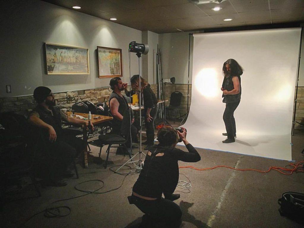 Monika photographing Calgary metal band Ravenous
