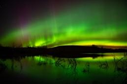Aurora borealis after editing