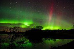 Aurora Borealis with red streak after editing in Ligthroom