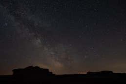 Tracked Milky Way photo before editing