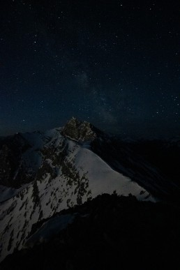 A quick exposure at night to help compose a night image