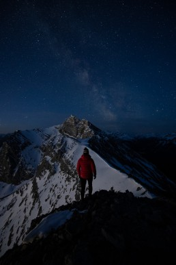 Composing a night photography image and self portrait using Nikon camera
