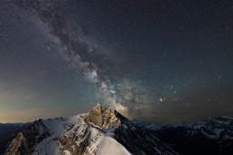 Milky Way over Ha Ling Peak in Kananaskis Alberta
